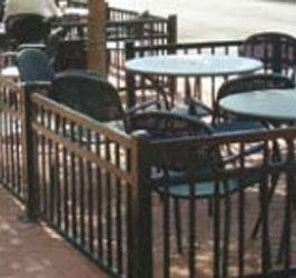 Aluminum Fencing Around Restarants