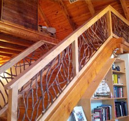 Cabin Staircase & Railings