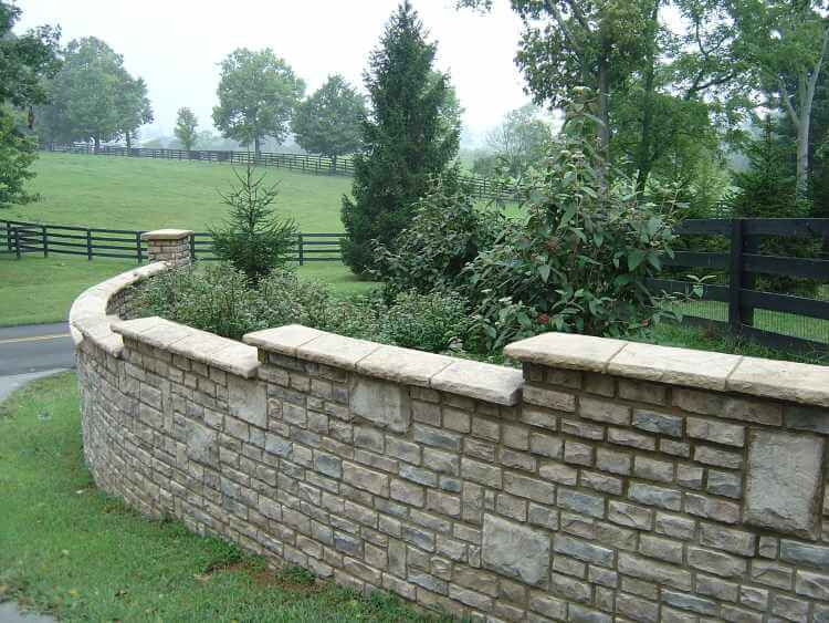 Adding The Final Touch To Your Stone Retaining Wall By