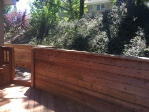 redwood deck and fence in Oakland, near San Francisco ca