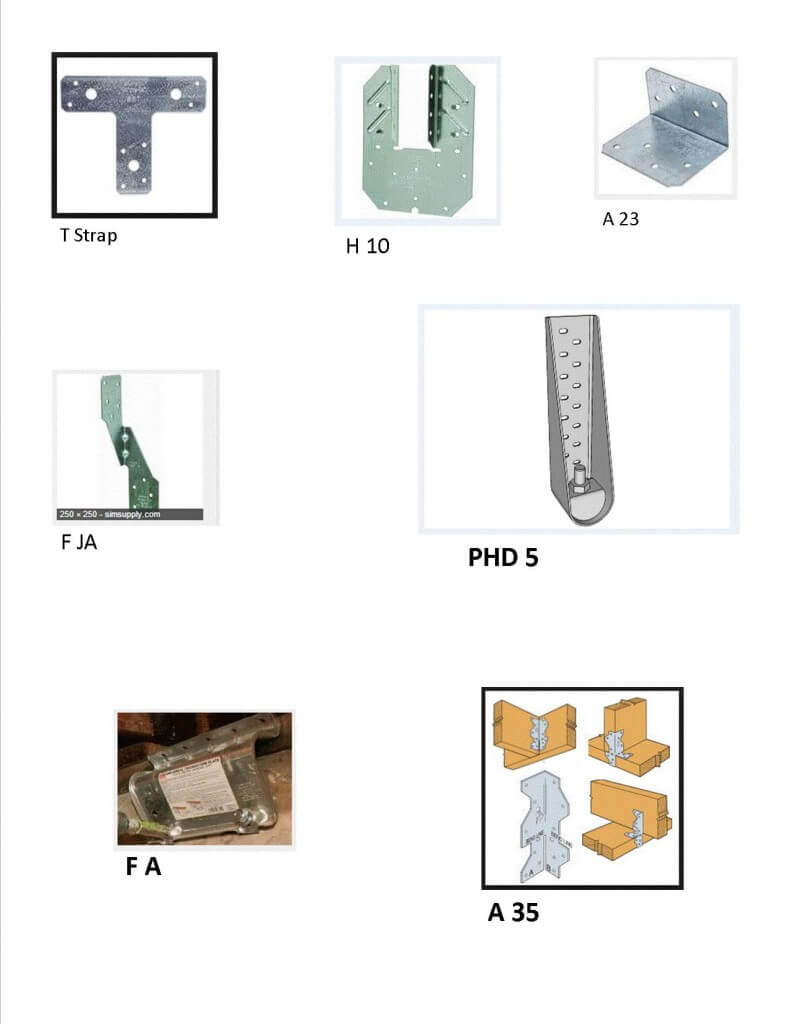 Typical home foundation retrofit brackets for oakland and for Foundation brackets