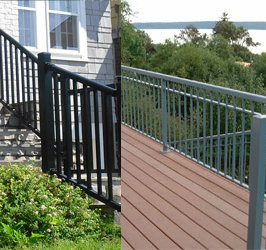 Aluminum guard railings