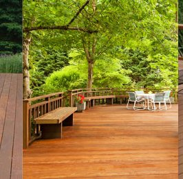 Average cost of a wood deck per square foot in Oakland CA