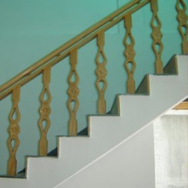 Custom Mexican wood stair balusters
