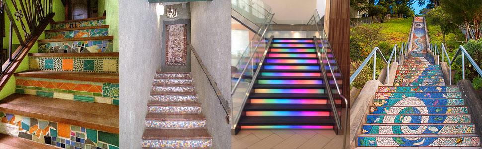 Mosaic Stairway Montclair Construction