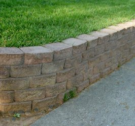 A good way to make your garden and landscape look good using tan garden wall blocks