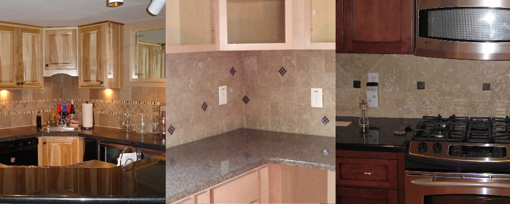 Travertine Kitchen Backsplash Montclair Construction