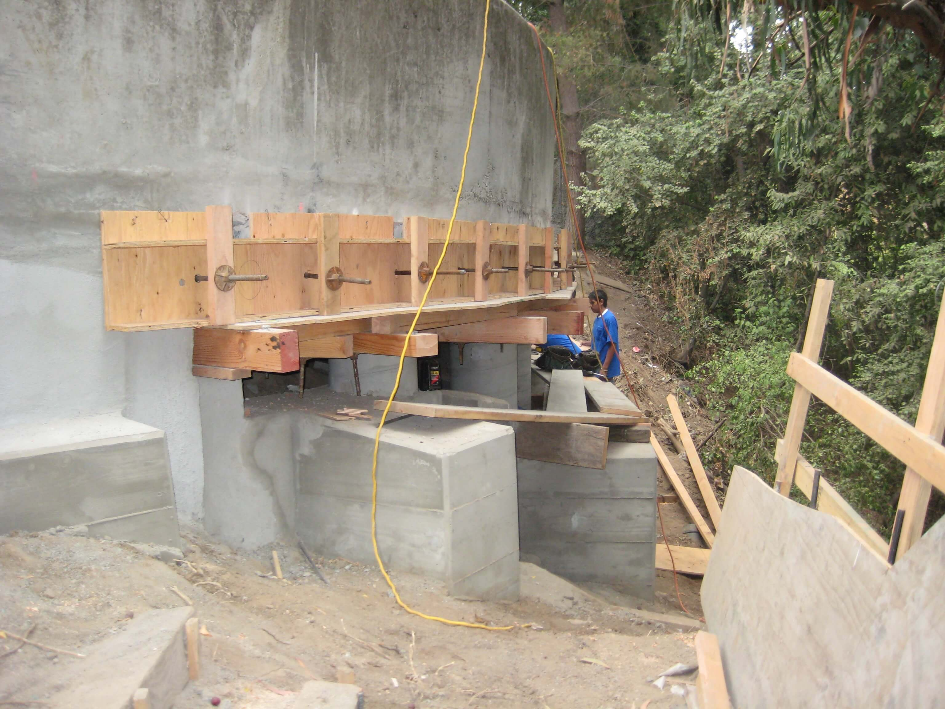 Underpinning Of The Concrete Structure For Oakland And San
