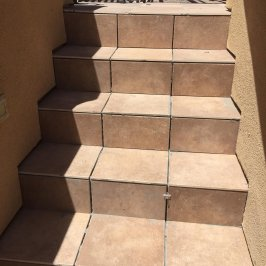 Tile Deck Stairs